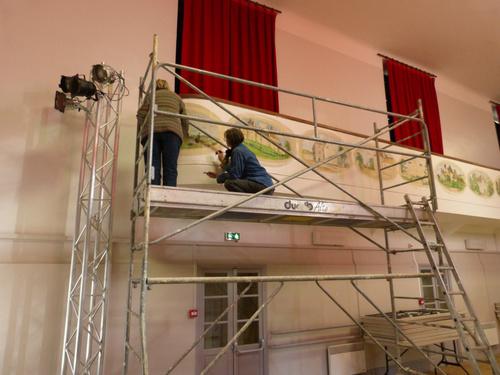 Restauration des peintures de la Salle des Fêtes