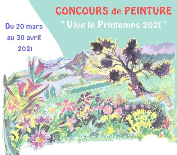 Un concours de peinture pour fêter le printemps 2021