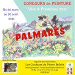 Palmarès du concours de Peinture Les Couleurs de Pierre Belvès