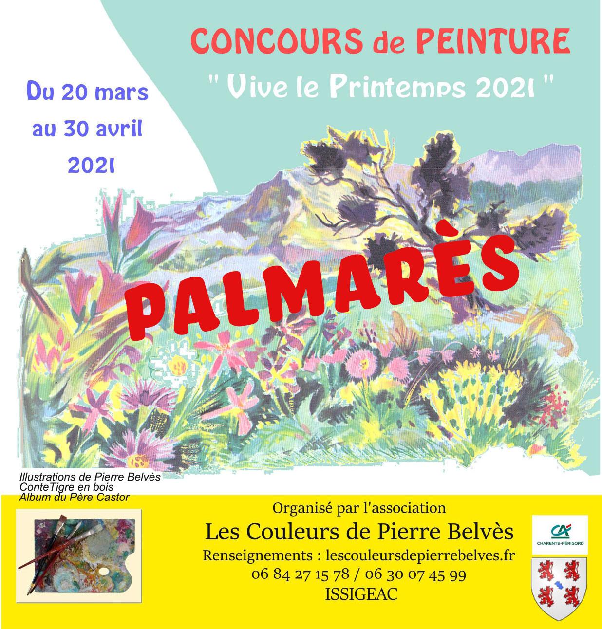 Read more about the article Palmarès du concours de Peinture Les Couleurs de Pierre Belvès