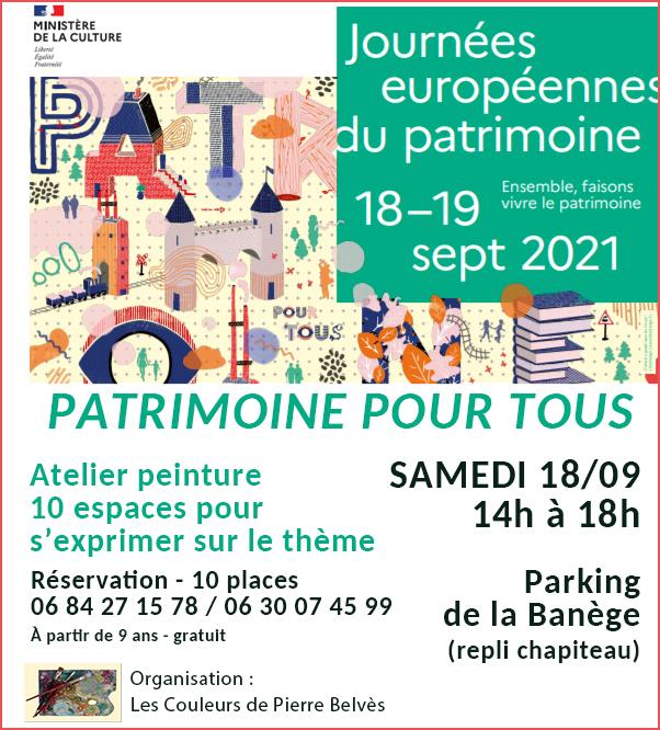 Read more about the article JEP 2021 – un atelier de plein air