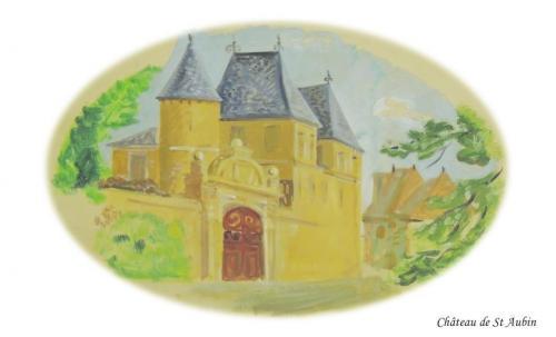 Château de St Aubin à St Audin de Lanquais