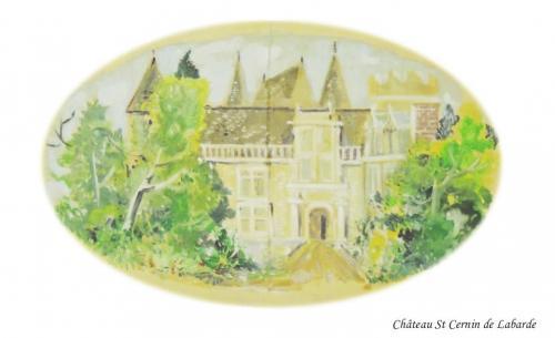 Château de St Cernin à St Cernin de Labarde